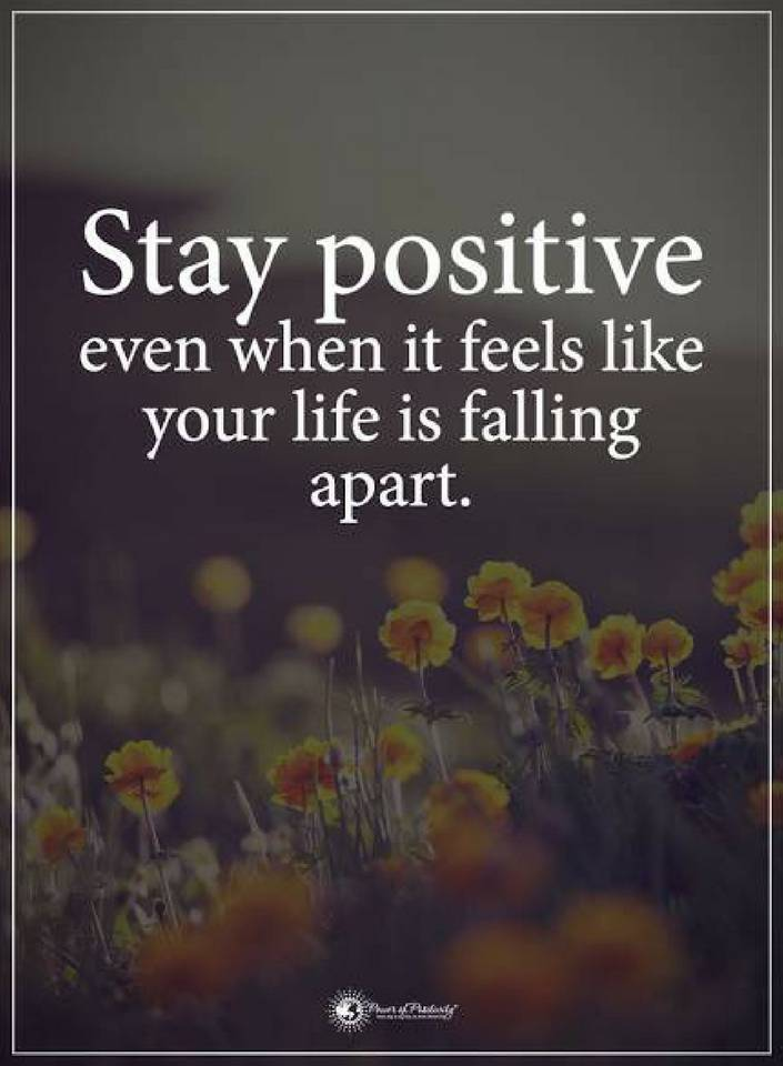 Stay Positive Quotes Quotes stay positive even when it feels like your life is falling  Stay Positive Quotes