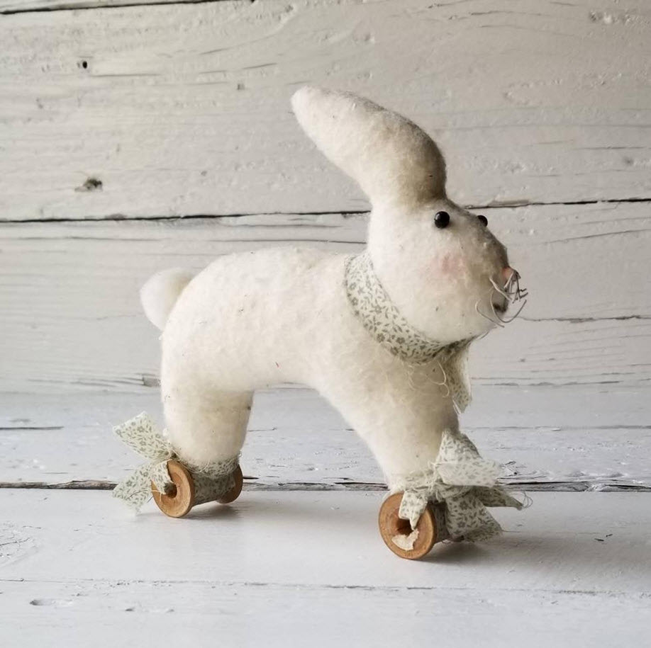 Vintage Rabbit Pull Toy