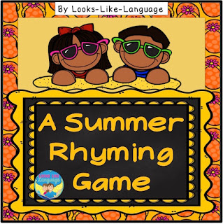 Summer rhyming fun for free from Looks Like Language!
