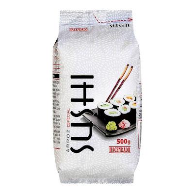 Arroz especial sushi Hacendado