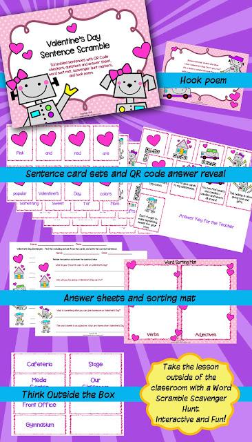 https://www.teacherspayteachers.com/Product/Valentines-Day-Sentence-Scramble-3653512
