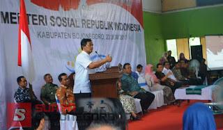 Bareng Mensos, Kuswiyanto Monev Penyaluran Bansos Non Tunai PKH