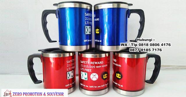 mug tumbler, mug promosi, mug stainless steel, Mug standard Promosi, Tumbler Mug Gagang, Mug Tumbler Warna