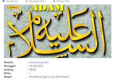 Download RPP Daring Pendidikan Agama dan Budi Pekerti Kelas 1 SD