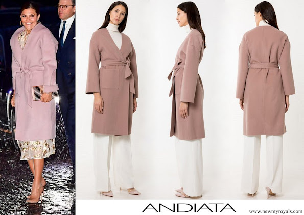 Crown Princess Victoria wore Andiata Odnala wool jacket in Pink