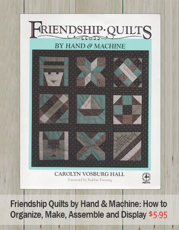 Friendship Quilt How To Book