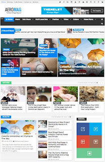AeroMag Adsense Responsive Blogger Templates Without Footer Credit