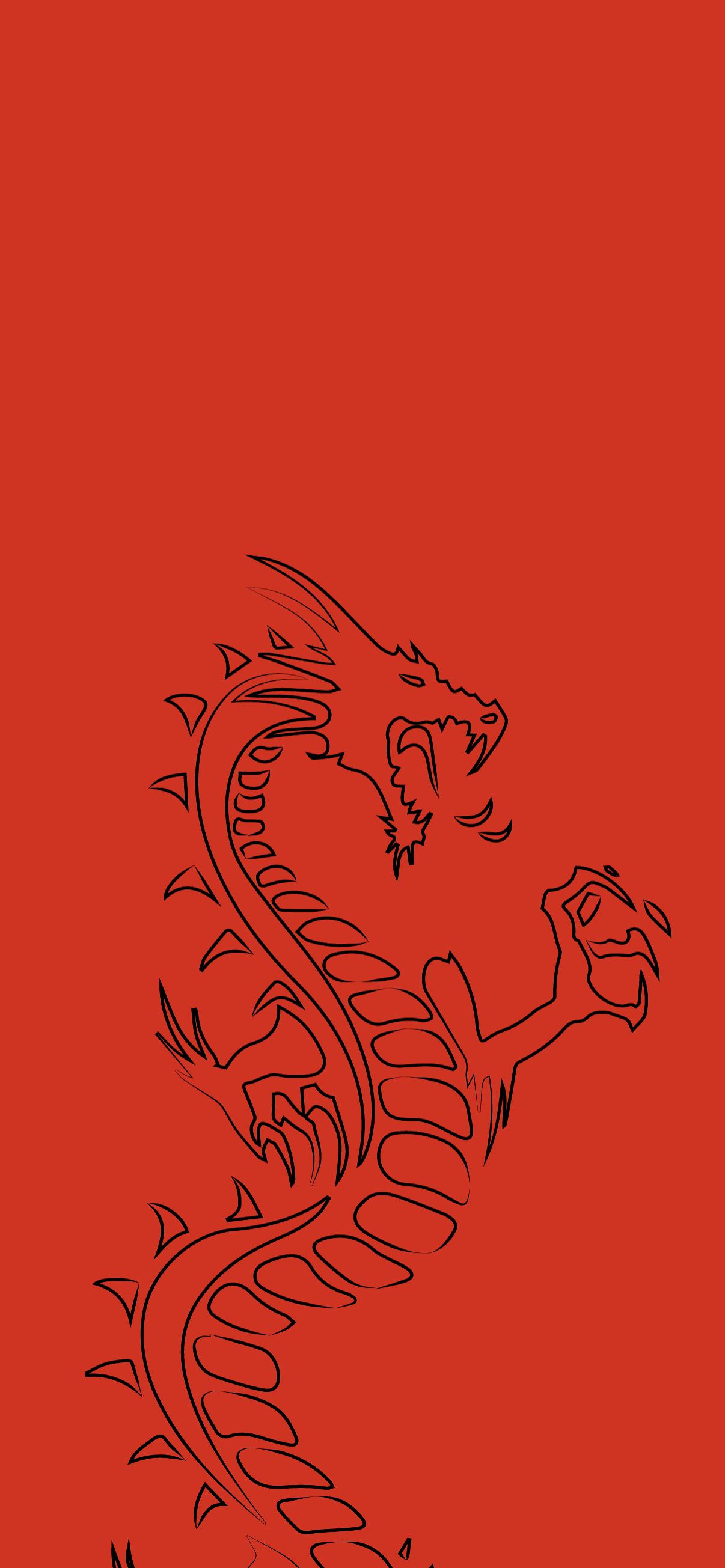 dragon red lock screen