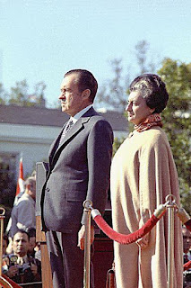 Indira Gandhi with President Richard Nixon