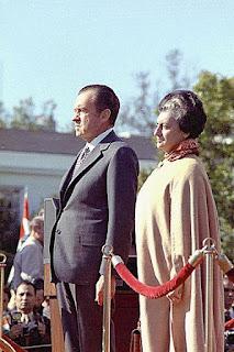 Indira Gandhi with President Richard Nixon
