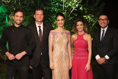 Hugo, Bertolazzi, Chris, Beca e Robson Jassa  (Crédito: Gabriel Gabe/SBT)