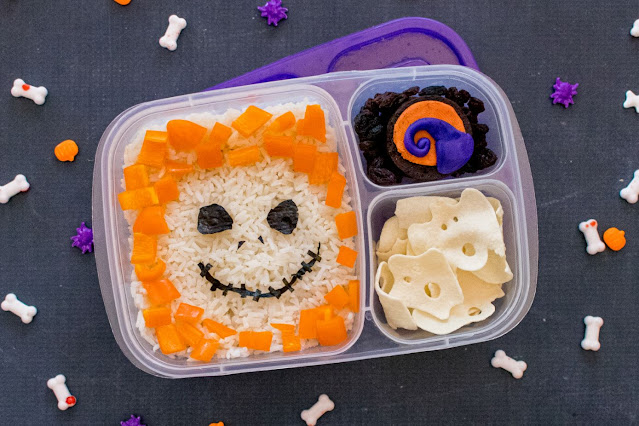 How to Make a Jack Skellington Rice Lunch Recipe for Halloween!