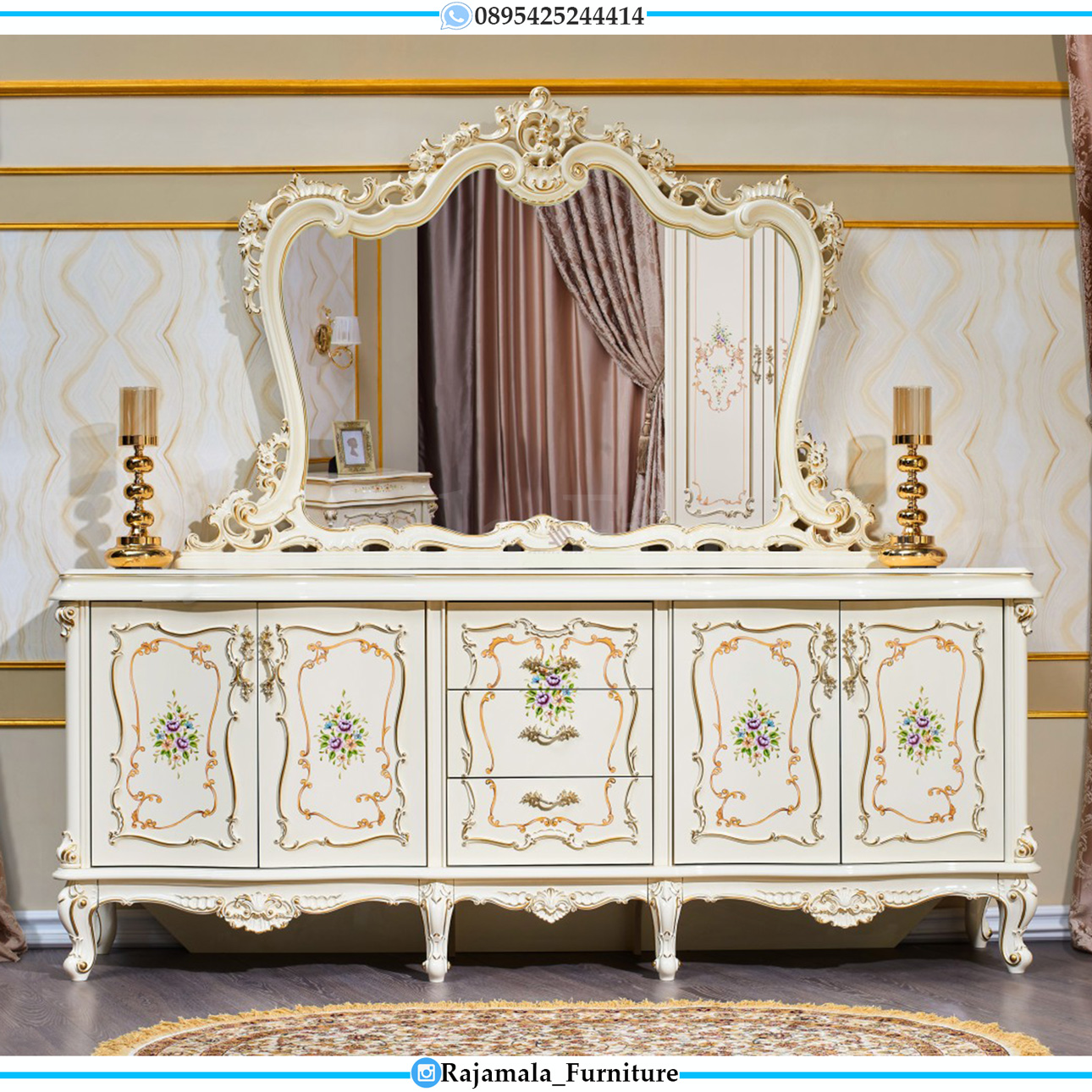 Desain Meja Konsul Mewah Ukiran Jepara Luxury Furniture Classic RM-0238
