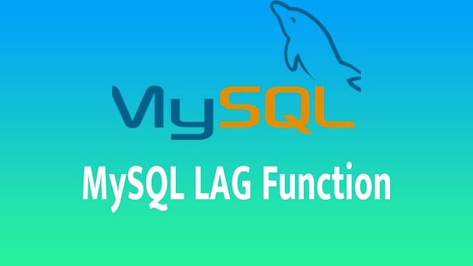 MySQL LAG Function