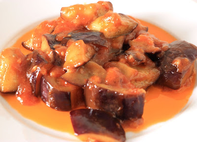 Chinese food - Sweet and sour aubergine