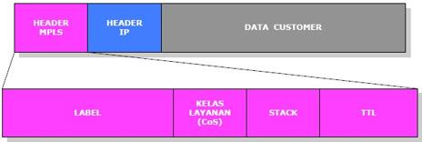 Gambar 2. Enkapsulasi Paket MPLS