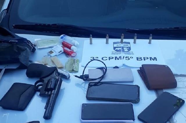 Polícia Militar prende quarteto portando arma de fogo no RN
