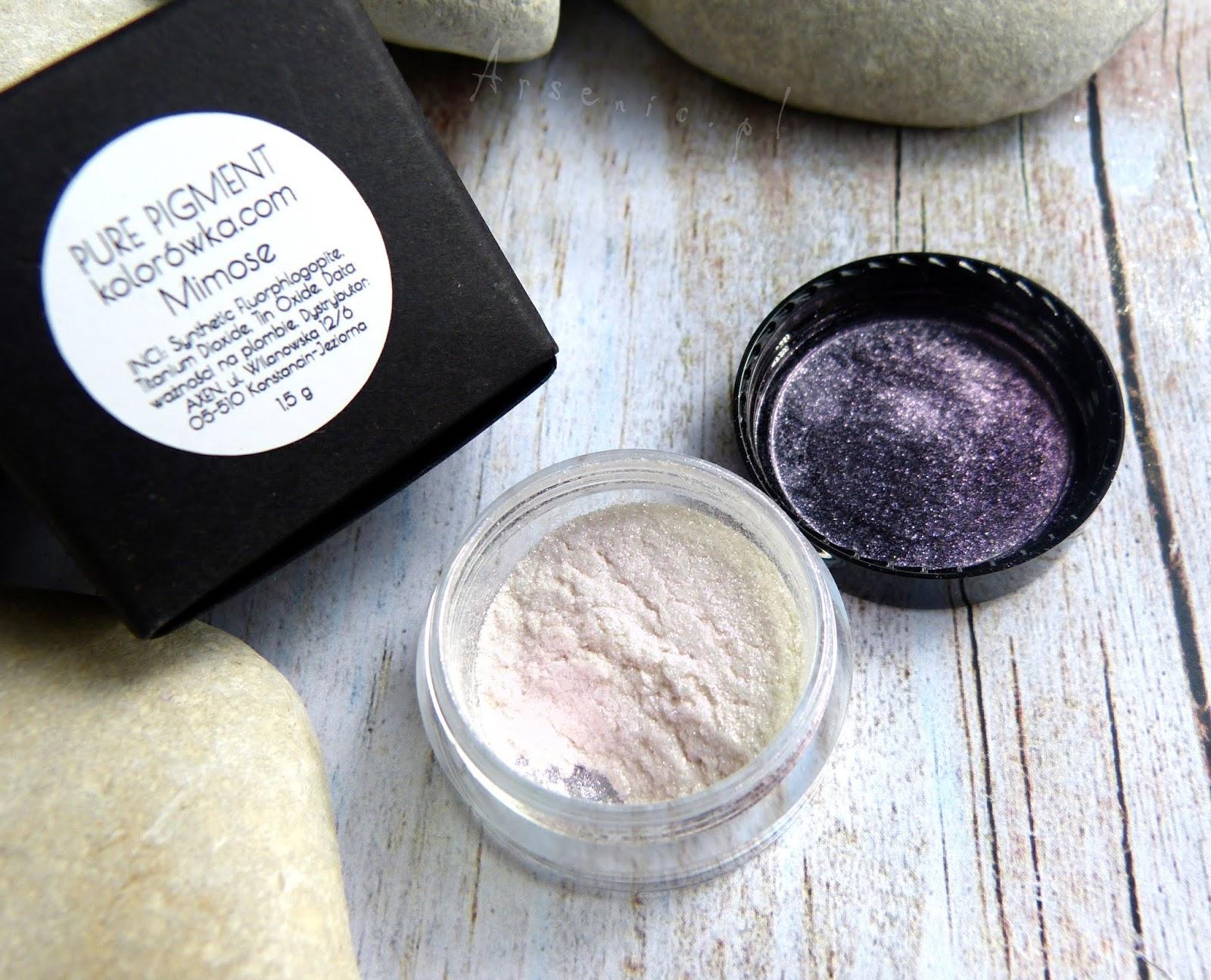 OH! Mimose - makijaż i porównanie z pigmentem Mirage