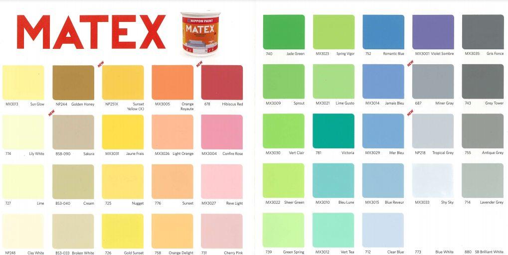 Katalog Warna Cat Matex Interior Nippon Paint