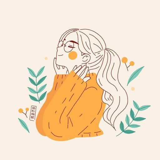 ilustración de chica sonriente con jersey amarillo