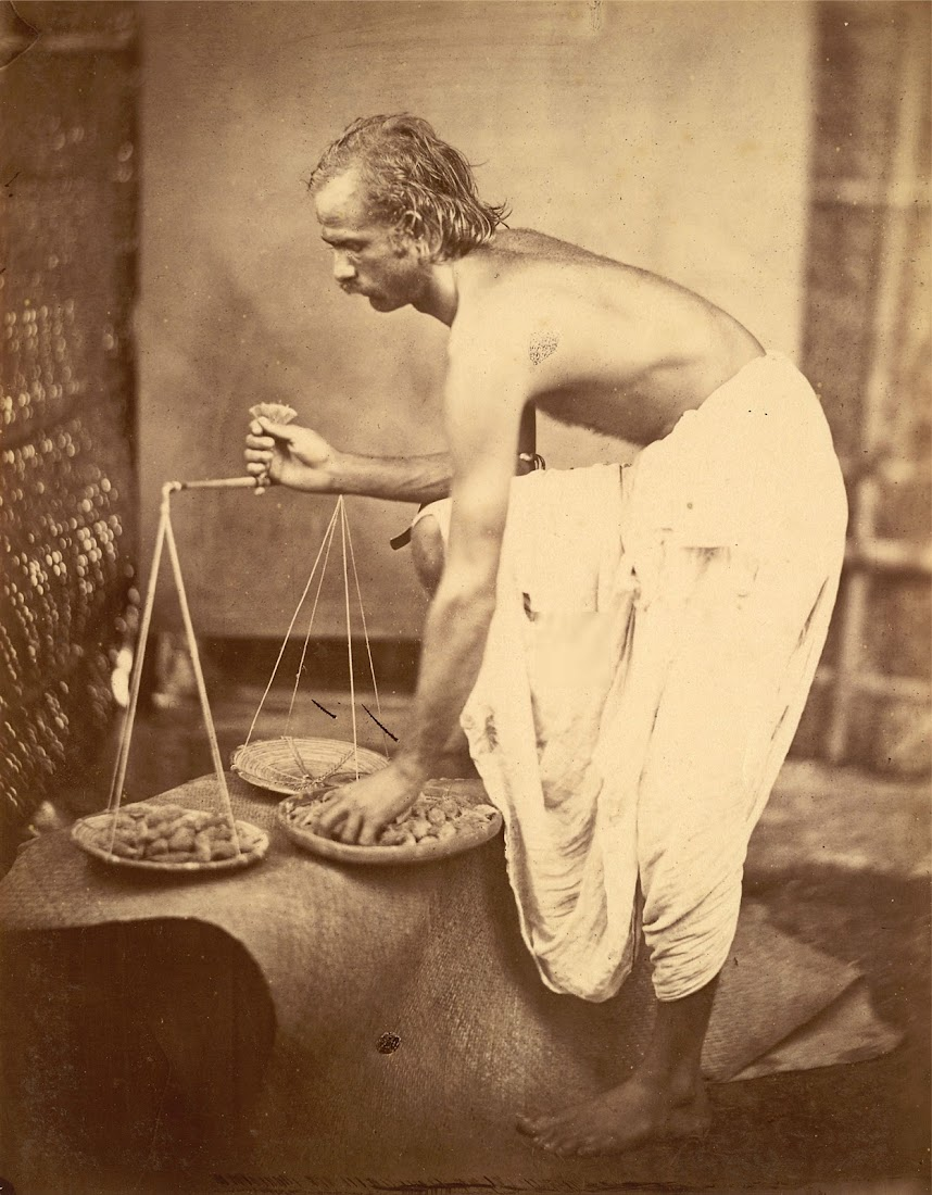 Vintage Photograph of a Street Trader - Eastern Bengal 1860's