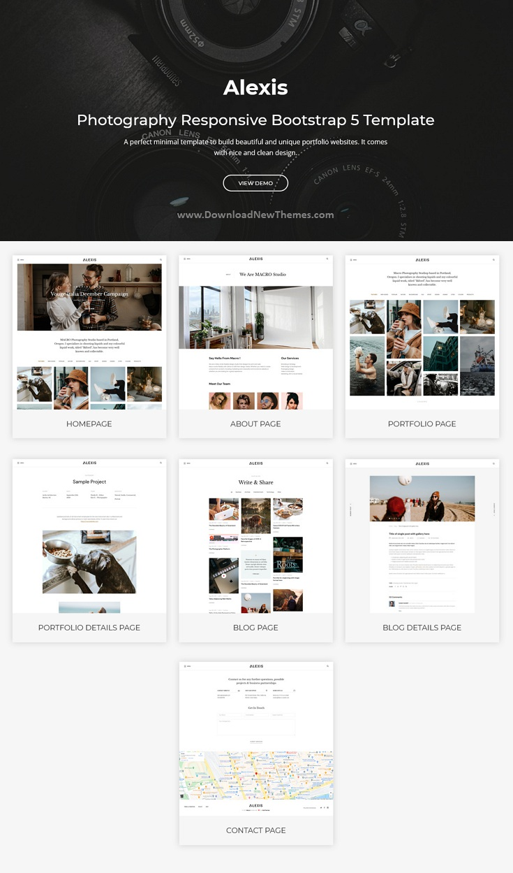 Photography Responsive Bootstrap Template
