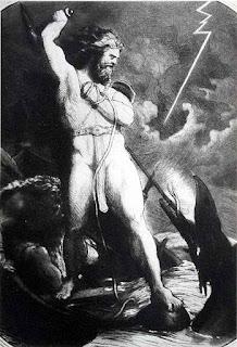 Thor und Jörmungander (die Midgardschlange)
