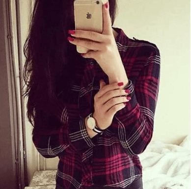 cute girls profile picture with i phone