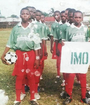 Kelechi Iheanacho Repping Imo State Youth Team In A Throwback Picture