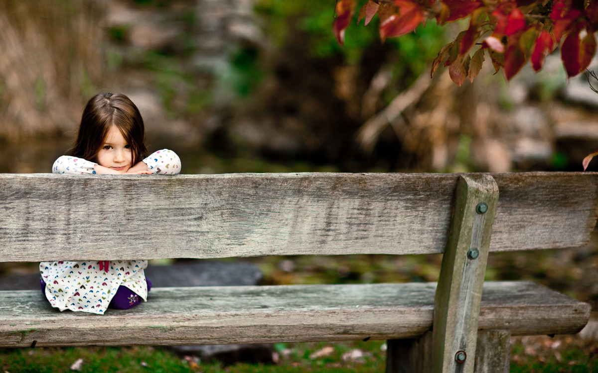 little girl watching