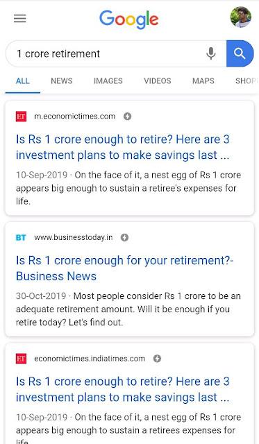 1 Crore Retirement Google Search