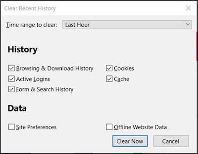 Cara Hapus Cache, Cookies, Riwayat Browsing Di Chrome Dan Firefox