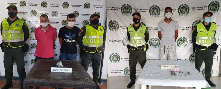 hoyennoticia.com, Capturados con bazuco, coca y marihuana