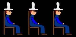 Tres sabios con sombreros