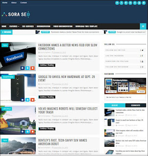 Sora Seo - Responsive Blogger Templates Without Footer Credit
