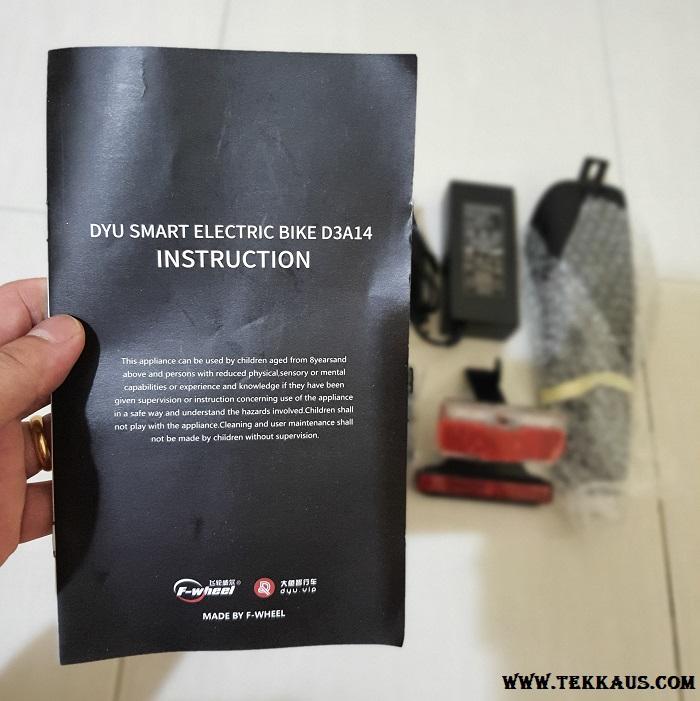 DYU DY3+ Smart Electric Bike Instruction Guide
