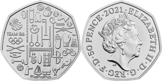 United Kingdom 50 pence 2021 - Tokyo 2020 Olympic Games