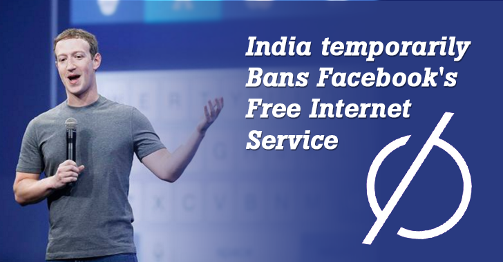 India temporarily Bans Facebook's Free Internet Service