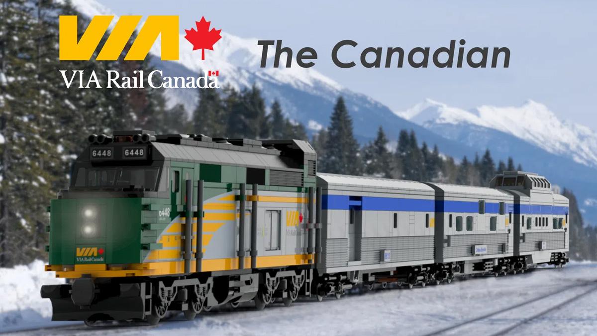 レゴアイデアで『VIA鉄道 カナディアン号』が製品化レビュー進出!2021年第1回1万サポート獲得デザイン紹介