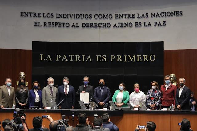 Senadores del PRD felicitan a Esteban Moctezuma como embajador en EU