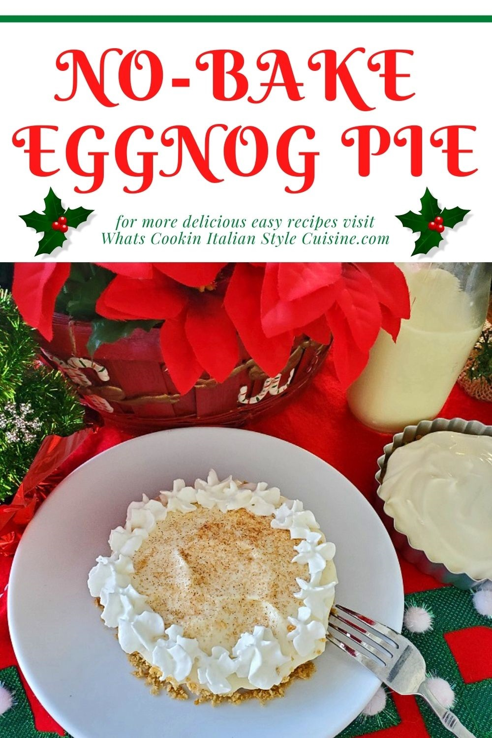 this is how to make eggnog pie in a removal pie tin pin for later
