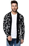 DENIMHOLIC Men's Cotton Open Neck Cardigan