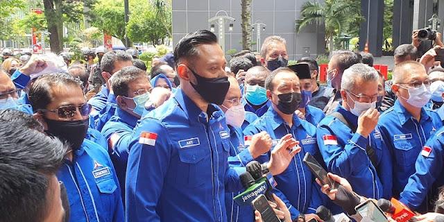 Didampingi 34 Pimpinan DPD, AHY Kirim Nota Keberatan Ke Kantor Yasonna Laoly