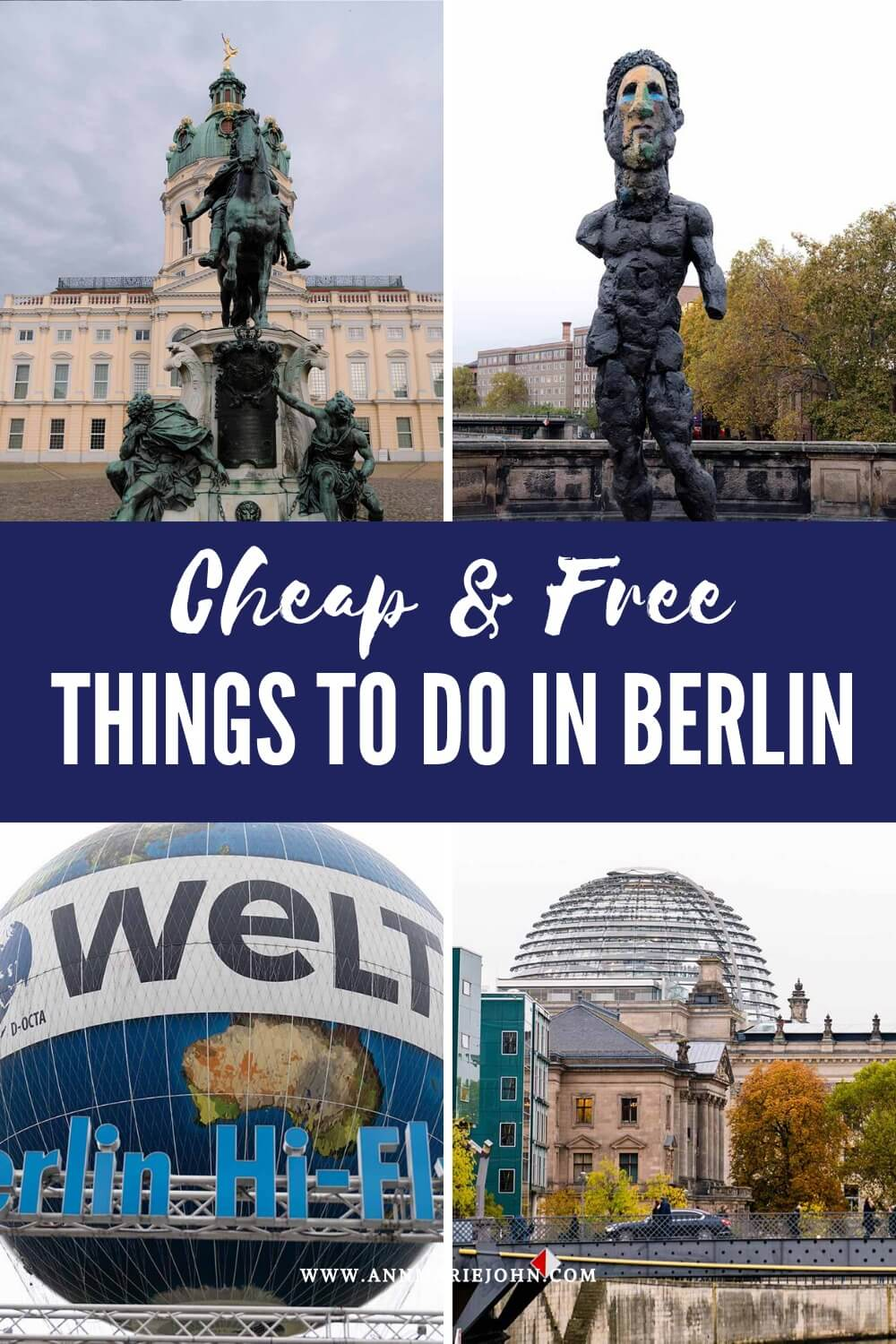 Pinterest Image of Cheap and Free Things to do in Berlin