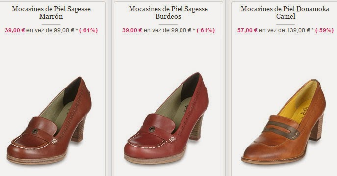 Ejemplos de zapatos de tacón de la marca Kickers desde 39 euros