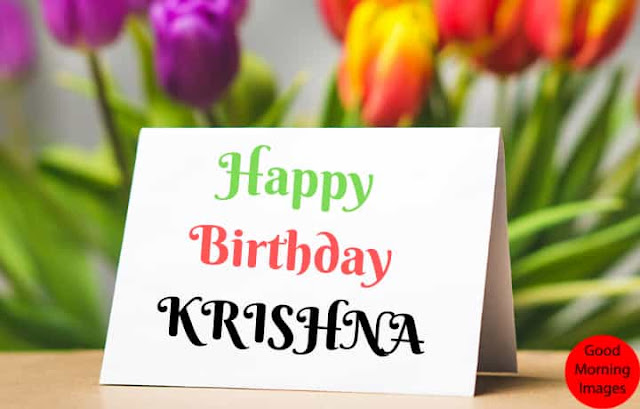 Birthday images with name krishna