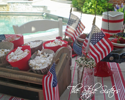 Popcorn holders made from scrapbook paper