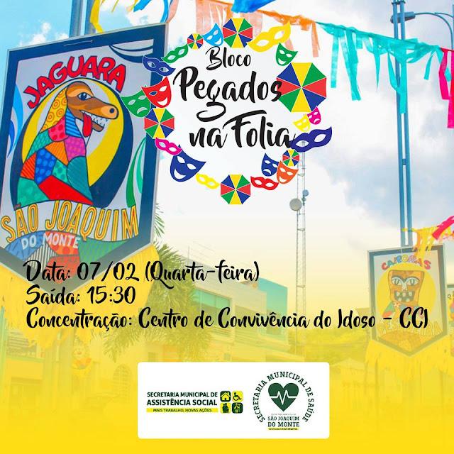 BCN FOLIA: Carnaval já tem bloco em São Joaquim do Monte