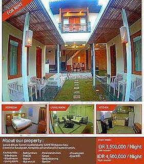 Sewa Villa 6 kamar legian Bali
