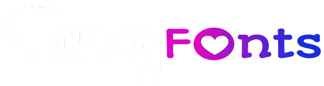 Fancy fonts logo